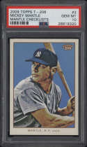 2009 Topps T-206 #3 Mickey Mantle PSA 10 Gem Mint Checklists