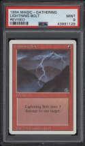 1994 Magic The Gathering MTG Revised Lightning Bolt PSA 9 Mint