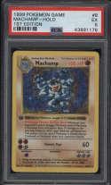 1999 Pokemon Base Set #8 Machamp PSA 5 EX 1st Edition Shadowless