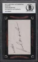 2017 Historic Autographs Scripts Beckett Jack McMahan BCCG Authentic Baseball MLB