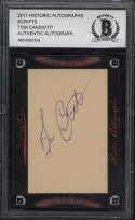 2017 Historic Autographs Scripts Beckett Tom Candiotti BCCG Authentic Baseball MLB