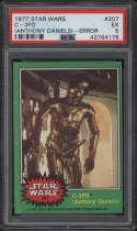 1977 Star Wars Green #207 C-3PO PSA 5 EX Error