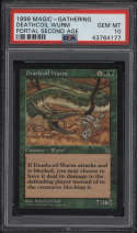1998 Magic The Gathering Portal Second Age Deathcoil Wurm Deathcoil Wurm PSA 10 Gem Mint MTG