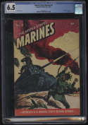 United Stated Marines #4 Comic CGC 6.5 OW/W Pages Magazine Enterprises 1944