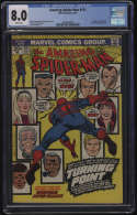 Amazing Spider-Man #121 CGC 8.0 White Pages Death of Gwen Stacy