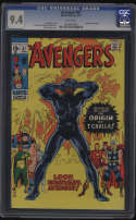 Avengers #87 CGC 9.4 White Pages Origin Black Panther 1971