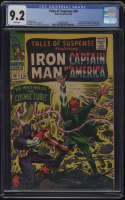 Tales of Suspense #80 CGC 9.2 White Pages Classic Red Skull Cover Cosmic Cube