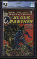 Jungle Action #10 CGC 9.8 OW/W Pages Black Panther 1974