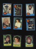 Star Wars Blue Card Set Topps 1977 Complete Plus Complete Sticker Set 1