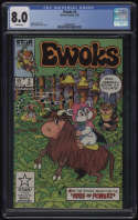 Star Wars Ewoks #2 CGC 8.0 White Pages 1985 Wicket Marvel Comics