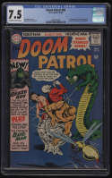 Doom Patrol #99 CGC 7.5 OW/W Pgs 1st Appearance Beast Boy Changeling DC Titans