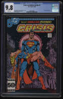 Crisis on Infinite Earths #7 CGC 9.8 White Pages Death of Supergirl George Perez
