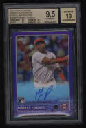 2015 Topps Chrome #ARMFO Maikel Franco BGS 9.5 Auto 10 Gem Mint Rookie Purple Refractor 122/250