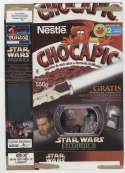 Chocapic Star Wars AOTC Empty Ceral Box Nestle Droids Mexican