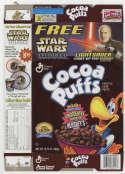 Coco Puffs Star Wars AOTC Empty Ceral Box General Mills Lightsaber Pen Promo