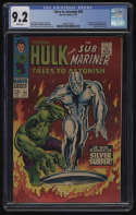 Tales to Astonish #93 CGC 9.2 White Pages Silver Surfer Incredible Hulk Vs Marvel 1967