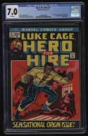 Hero For Hire #1 CGC 7.0 White Pages 1st Appearance Luke Cage Diamondback