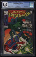 Amazing Spider-Man #78 CGC 8.0 White Pages 1st Appearance Prowler