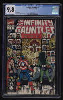 Infinity Gauntlet #2 CGC 9.8 White Pages Marvel 1991 George Perez
