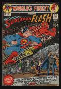 World's Finest Comics #198 Fine- 5.5 CR/OW Pgs Superman Flash Race DC Comics