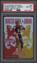 2012 Panini Crusade #94 Kareem Abdul Jabbar PSA 10 Gem Mint Prizm Red & Gold 4/99