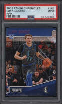 2018 Panini Chronicles #183 Luka Doncic PSA 9 Mint Pink Rookie Card RC Playoff