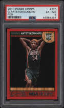 2013 Panini Hoops #275 Giannis Antetokounmpo PSA 6 EX-MT Red Rookie Card RC