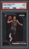 2018 Panini Prizm #78 Trae Young PSA 9 Mint Rookie Card RC