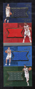 2016 Panini Preferred #12 Giannis Anthony Davis NM Quad 4 Color Patch Jersey 138/149