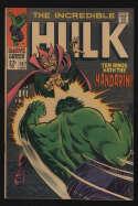 Incredible Hulk #107 VF+ 8.5 OW Pgs The Mandarin Marvel Comics Silver Age SA