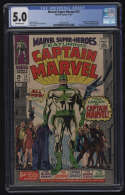 Marvel Super-Heroes #12 CGC 5.0 W Pgs 1st Appearance Captain Mar-Vell Marvel Comics Silver Age SA