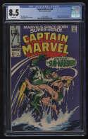 Captain Marvel #4 CGC 8.5 W Pgs Mar-Vell Vs. Sub-Mariner Namor Marvel Comics Silver Age SA