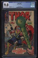 Thor #144 CGC 9.0 OW/W Pgs This Battleground Earth Marvel Comics Silver Age SA