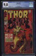 Thor #153 CGC 9.0 W Pgs Ulik Loki Marvel Comics Silver Age SA