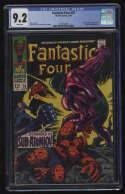 Fantastic Four #76 CGC 9.2 W Pgs FF Silver Surfer Galactus Marvel Comics Silver Age SA