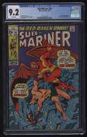 Sub-Mariner #26 CGC 9.2 W Pgs Namor Red Raven Marvel Comics Silver Age SA