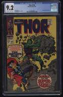 Thor #142 CGC 9.2 OW/W Pgs Super-Skrull Marvel Comics Silver Age SA