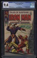 Tales Of Suspense #97 CGC 9.4 W Pgs Iron Man 1st Whiplash Marvel Comics Silver Age SA