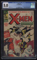 X-Men #1 CGC 5.0 Cream/OW Pgs 1963 1st Magneto Cyclops Jean Grey Marvel Uncanny