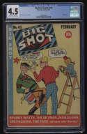 Big Shot Comics #43 CGC 4.5 OW/W Pgs Columbia Comics 2/1944 Hitler Cover