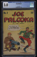 Joe Palooka #2 CGC 3.0 CR/OW Pgs Columbia Comics 1943 Hitler Cover In The Army