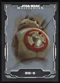 Star Wars 2016 Masterworks Silver Parallel Card #43 BB-8 30/99