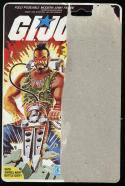 G I Joe ARAH Ripper Full 34 Back Backer Card Package File Card Hasbro 1984
