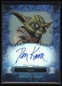 Star Wars 2016 Masterworks Tom Kane as Yoda Autographed Card Rainbow 48/50