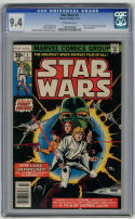 Star Wars #1 CGC 9.4 Off White pages 1977 Movie Adaptation Chaykin Art