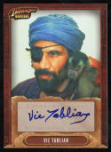 Indiana Jones Heritage Vic Tablian Autograph Topps 2008