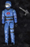 G I Joe ARAH Cobra Commander Swivel Arm Figure 1983 Hasbro