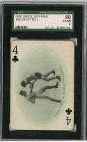 1909 James Jeffries Welsh/Attell SGC 80 EX/NM Black Sox Scandal Boxing Card HOF