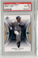2007 SP Authentic PSA 10 Derek Jeter Gem Mint Yankees