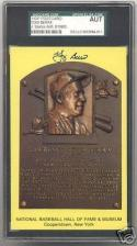 Yogi Berra Hall Of Fame Post Card Autographed SGC/JSA